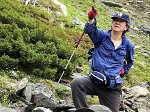 3000メートル級の山々が連なる南アルプスで長年調査を続けている静岡大の増沢武弘教授