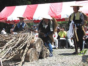 南アルプス開山祭・蔓払い