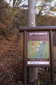 千段の滝 遊歩道入口