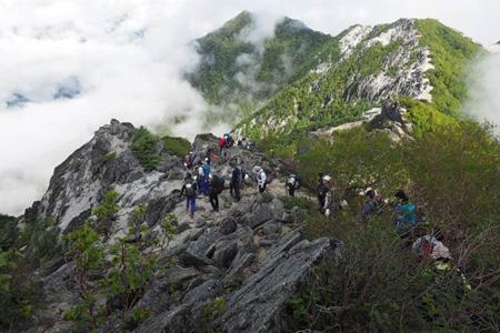 高嶺の稜線