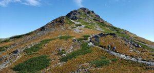 北岳2950メートル地点の紅葉(9月26日撮影)