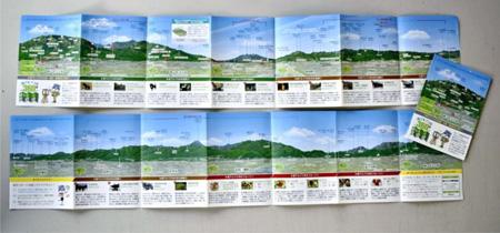 南アルプス市観光協会が作ったイラストマップ