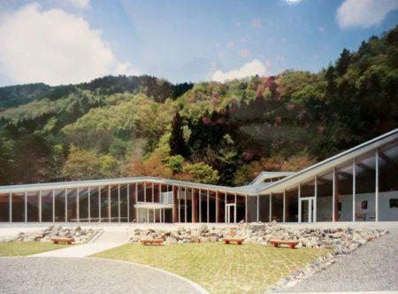 開館当初の芦安山岳館