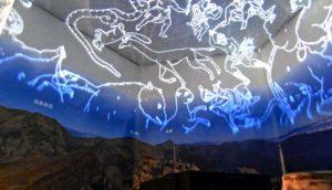 7月の農鳥岳山頂からの星空を楽しめる空間=南アルプス市芦安芦倉