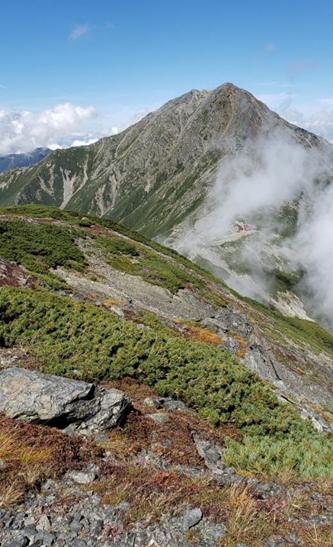 中白根峰から北岳